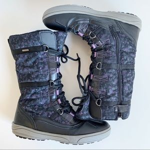 Geox Joing Star Print Waterproof Lace Up Zip Boot